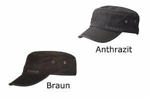 Stetson-Armycap-in-2-Farben-usedlook-Kubacap-Kappe-Cap-Muetze-Schirmmuetze-7491102