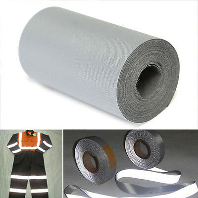 3M*5cm Silver Reflective Warning Tape Safety Sew On Trim Sticker Synth Fabric