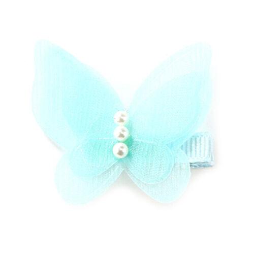 5X Bow Butterfly Hair Clips Girls Hair Grips Kids Hairpin Headwear AccessoHK