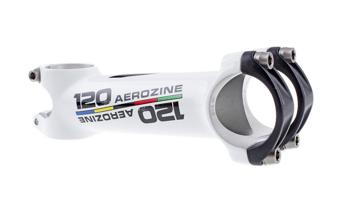 Aerozine XS7 Road MTB Bicycle Bike AL7050 Stem w Titanium  bolts 6D 120mm White  hot limited edition