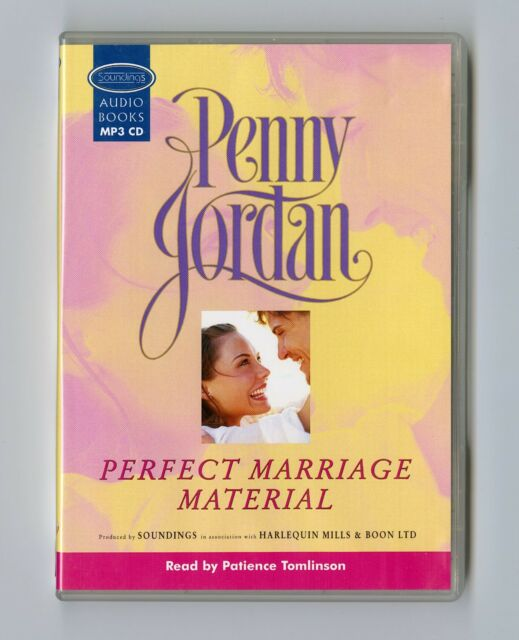 Perfect Marriage Material - by Penny Jordan - MP3CD - Audiobook