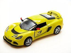 Kinsmart-2012-Lotus-Exige-S-Yellow-Die-Cast-Metal-1-32-Collectable-Car