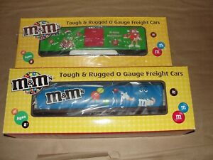 Mth Railking 30-752828 & 30-74490 M&m's Candy Tank Car Toy Train O Gauge Freight O Scale