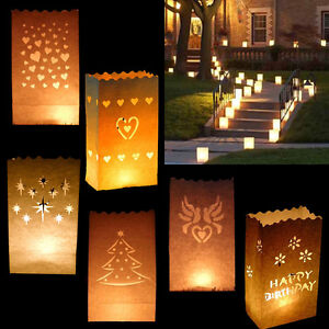 Image Is Loading Paper Candle Bags Luminary Wedding Table Centres Piece