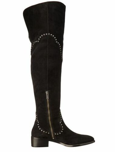 New NO Box Womens Frye Ray Grommet Over The Knee Boots Black Size 10 MSRP $ 548