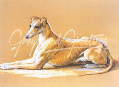 Vintage Altered Art Greyhound or Whippet Dog Set of 2 Greyhound Luggage Tags