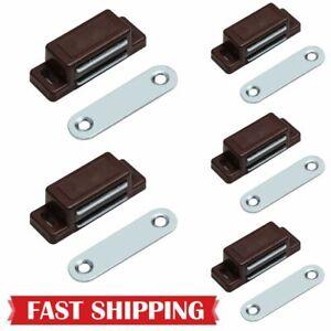 5Pack Brown Magnetic Door Catches Kitchen Cupboard ...