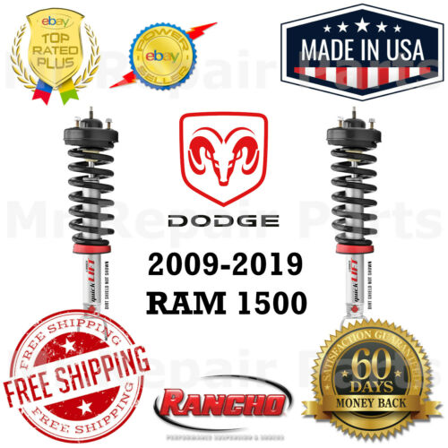 Rancho Quicklift Leveling Strut Set Front Left Right For 2009-2019 Ram 1500 4WD