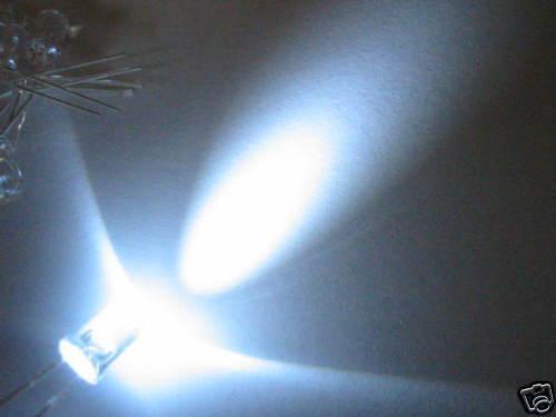20 LED BIANCHI ULTRALUMINOSI 20000mcd 5mm  WHITE