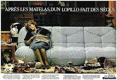 Tireless Publicité Advertising 1977 Les Sièges Et Fauteuils Dunlopillo To Make One Feel At Ease And Energetic 2 Pages