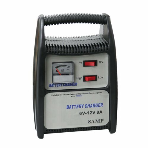 8A 12V Compact Portable Car Van Vehicle Battery Charger Starter NEW