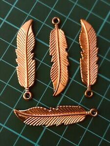 20Pcs Antique Silver//Gold//Bronze//Copper Feather//Leaf Shape Charms Pendants