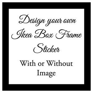 Vinyl Sticker Xcm DIY Box Frame Personalised DESIGN YOUR OWN - Vinyl stickers design your own