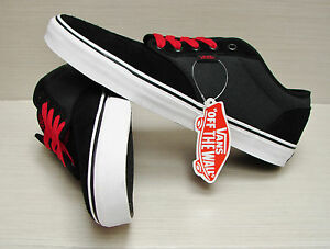 a27bb371d3 Vans Men s Atwood Textile Black Grey Red VN-0TUY8UU Size  11.5