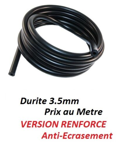 1 metre tuyau durite RENFORCE 3.5mm de retour injecteur gasoil Fiat