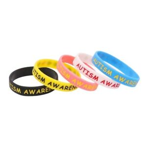 Details About Autism Awareness Silicone Rubber Wristband Bracelet Jewelry 5 Color