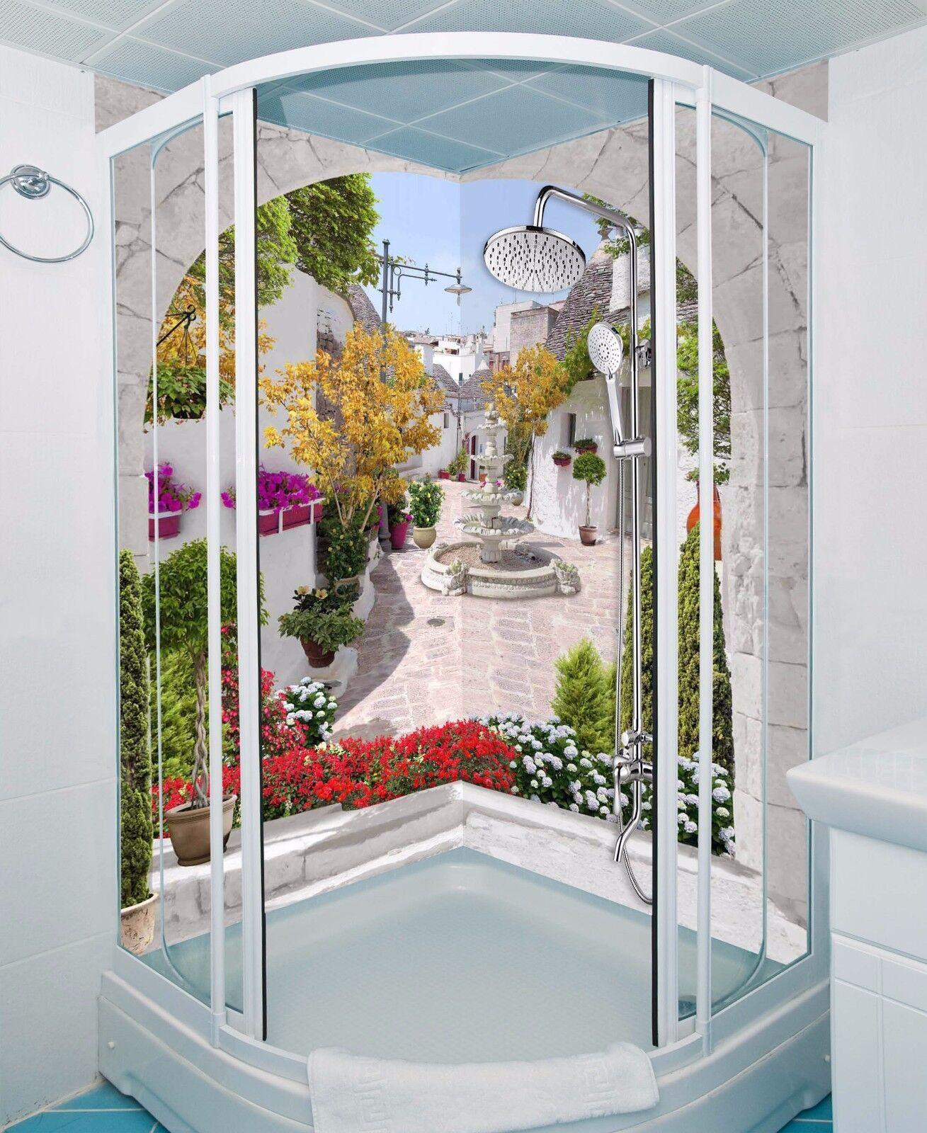 3D Arch Street WallPaper Bathroom Print Decal Wall Deco AJ WALLPAPER UK
