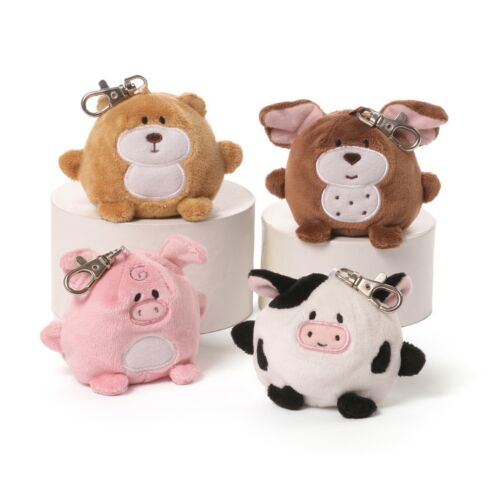 """Knuffles Backpack Clip 3/"""" Cow Gund"""