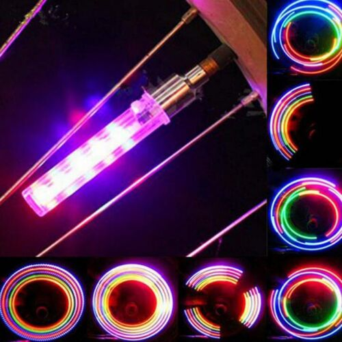 Bike Car Motorbike Neon LED Tire Tyre Wheel Spoke Valve Flash Light Dust Cap