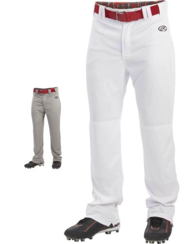 Rawlings lancement adulte ourlés Relaxed Fit fond ouvert Baseball Pantalon Blanc Gris