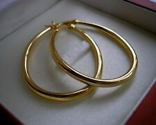 Genuine Large 9ct Gold Hoop Earrings Gf Almost Out Silly Ref 07
