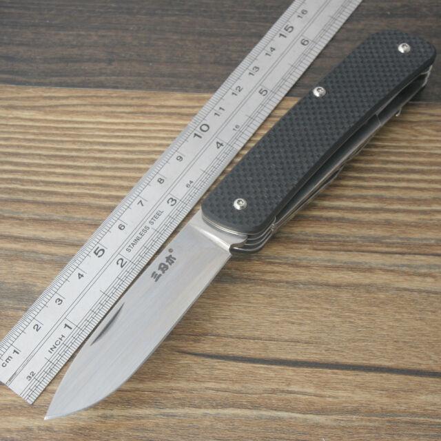 Sanrenmu Messer SRM 731-A1 Multi Funktions Klappmesser 12C27 Stahl Black G10