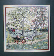 """JCA Elsa Williams Heritage Collection """"Country Ride"""" Counted Cross Stitch Kit"""