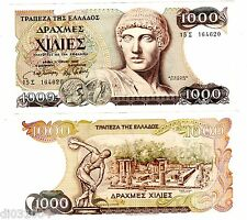 Grece GREECE Billet 1000 DRACHMAI 1987  P202 APOLLO  BON ETAT