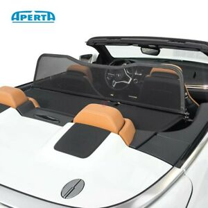 Aperta Black wind deflector compatible with Lotus Elise Draft-stop Tailor made windblocker Windstopper Lotus convertible