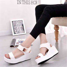 Fashion Womens Summer Sandals Shoes Casual High Platform Wedge Heels Slippers