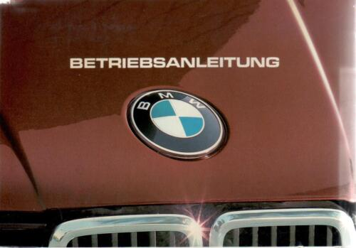 BMW 3er e30 manuale di istruzioni 1983 manuale 316 320i 318i 323i BA