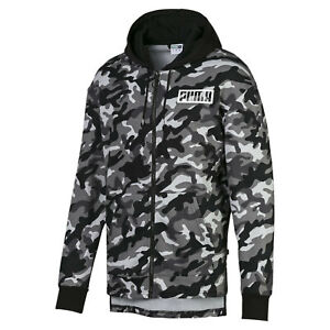 PUMA-Rebel-Camo-Men-039-s-Full-Zip-Fleece-Hoodie-Men-Sweat-Basics