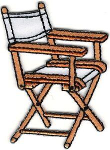 Film Directeur Chaise Broderie Patch
