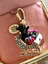 NIB Juicy Couture 2010 LTD Yorkie in Sleigh Bracelet Charm YJRU4357