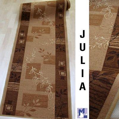 feiner Teppich Läufer *AW JULIA hellbraun* 100 cm breit NEU
