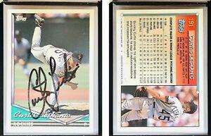 Curtis Leskanic Signed 1994 Topps #191 Card Colorado Rockies Auto Autograph