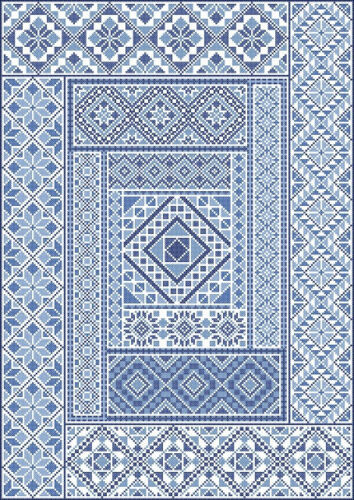 Spanish Diamond cross-stitch ONLY pamphlet by Northern Expressions Needlework
