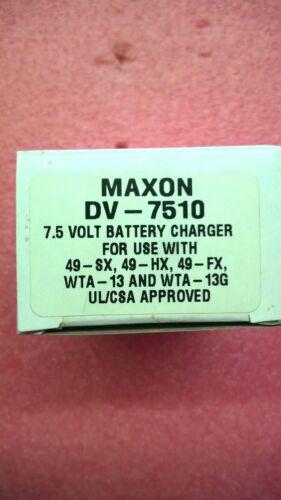 Maxon DV-7510  7.5VDC 100mm BATTERY CHARGER  AC ADAPTER OEM   NOS