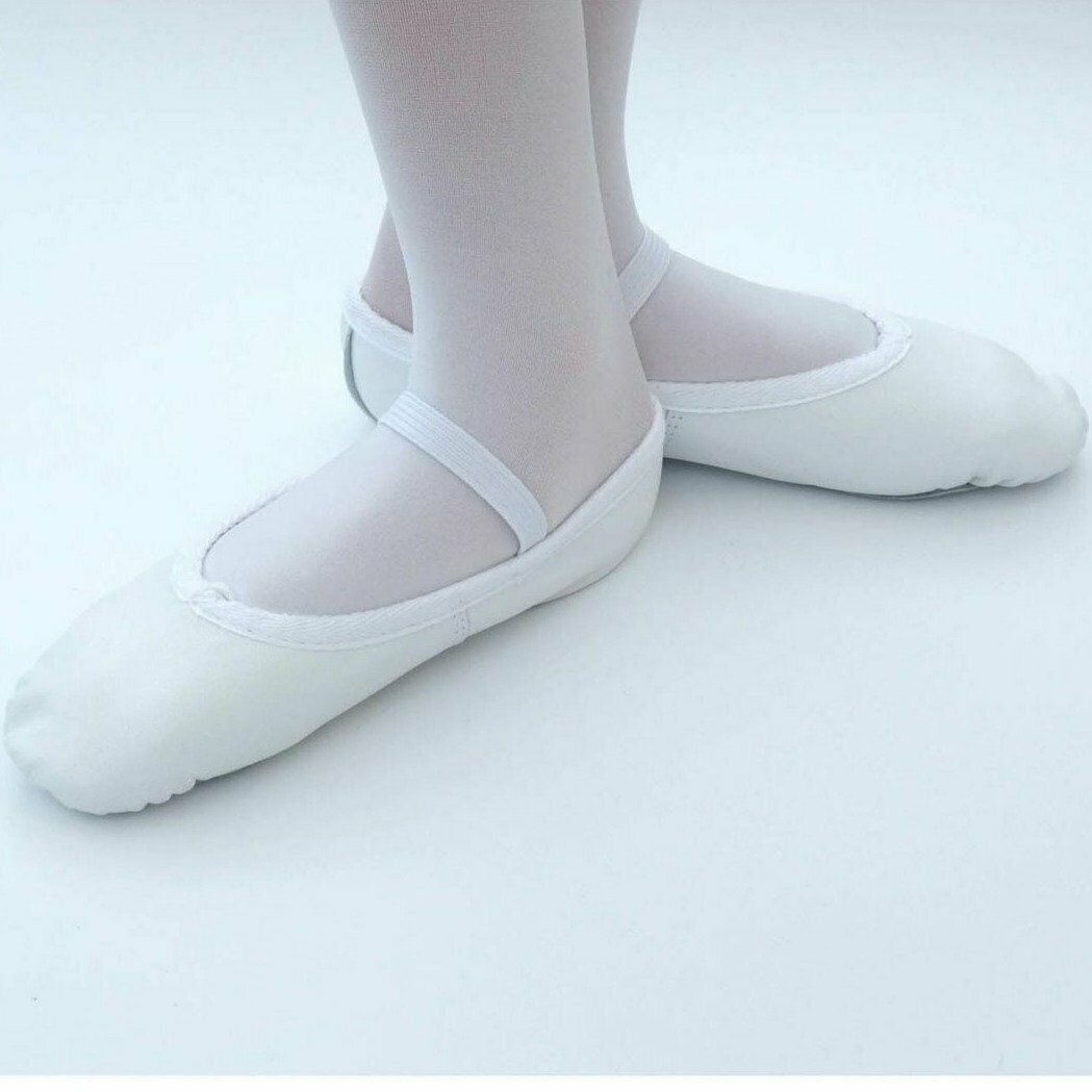 CLOSING DOWN SALE - Tappers and Pointers Full Sole White Leather Ballet Shoe