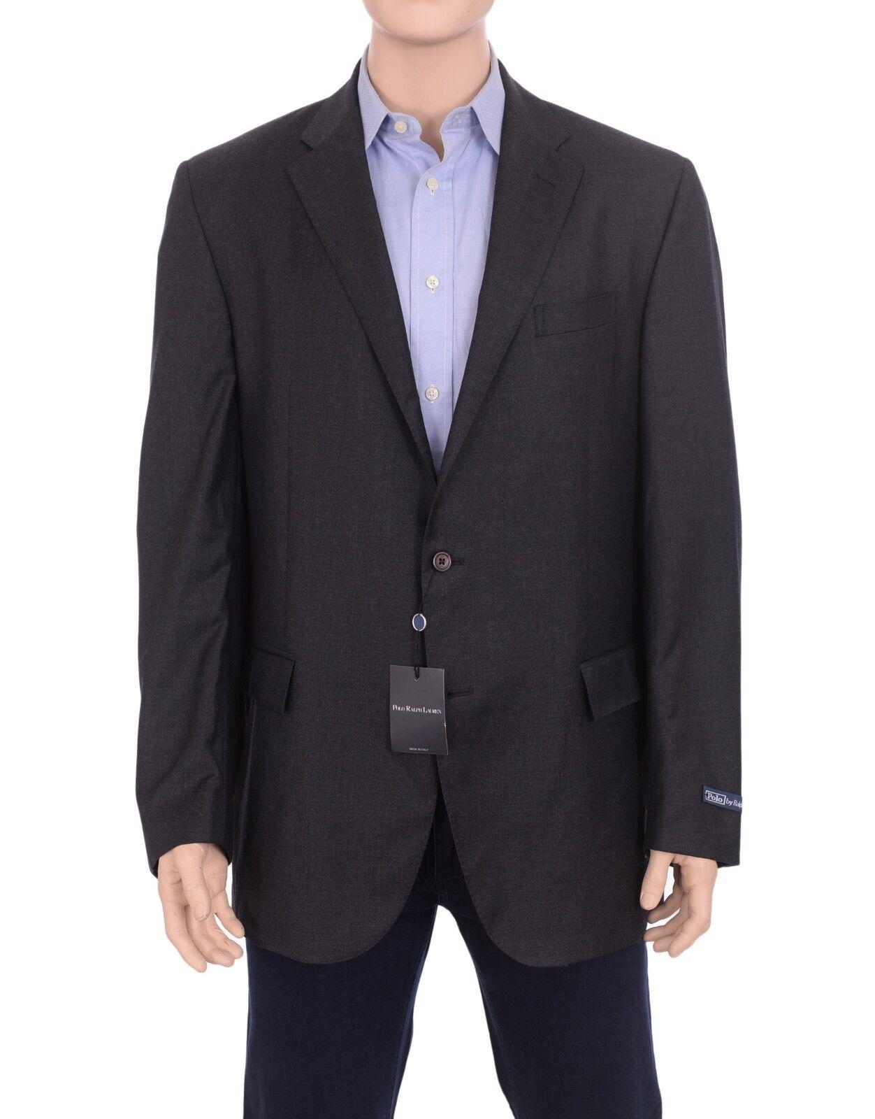 Polo Ralph Lauren  48L Classic Fit  Herren Solid grau Wool Blazer Sportcoat