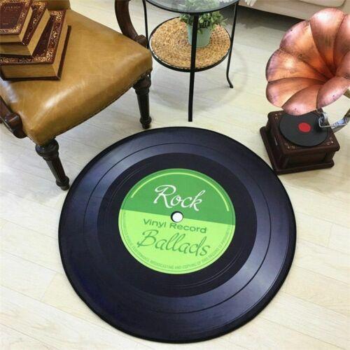 Vinyl Record Rug Retro Mats Carpet Fashion Personality Lp Circular Turntable