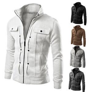 e276a0ebbf5fa Image is loading Men-Slim-Winter-Coat-Jacket-Outerwear-Overcoat-Casual-