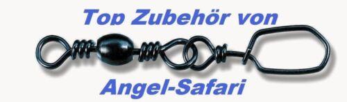 Zebco Energy Sicherheitswirbel m 65kg 5 Größen Stahleinhänger Tragkraft 32kg
