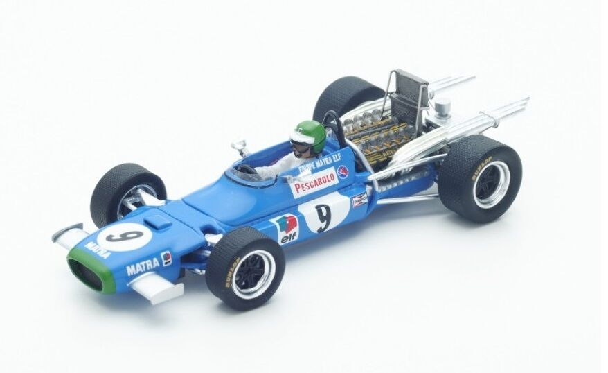 Matra MS11  9 H.Pescarolo  9th GP Mexico  1968  Spark 1:43 / S4358
