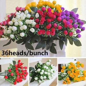 36 têtes de fleurs en soie artificielle bouquet  bouton mariage maison Bouquet