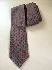 """Ted Baker London Green gray 100% Silk Neck Tie 59""""x3.75"""" Thick Geometric"""