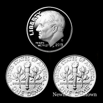 2019 P D S Roosevelt Dime Set  S From Proof Set P /& D from Bank Rolls