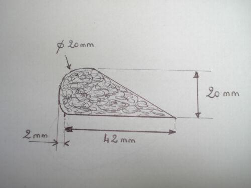 profil profilé bourrelet mousse agglomérée 2 m 42 mm par 20 mm tapissier