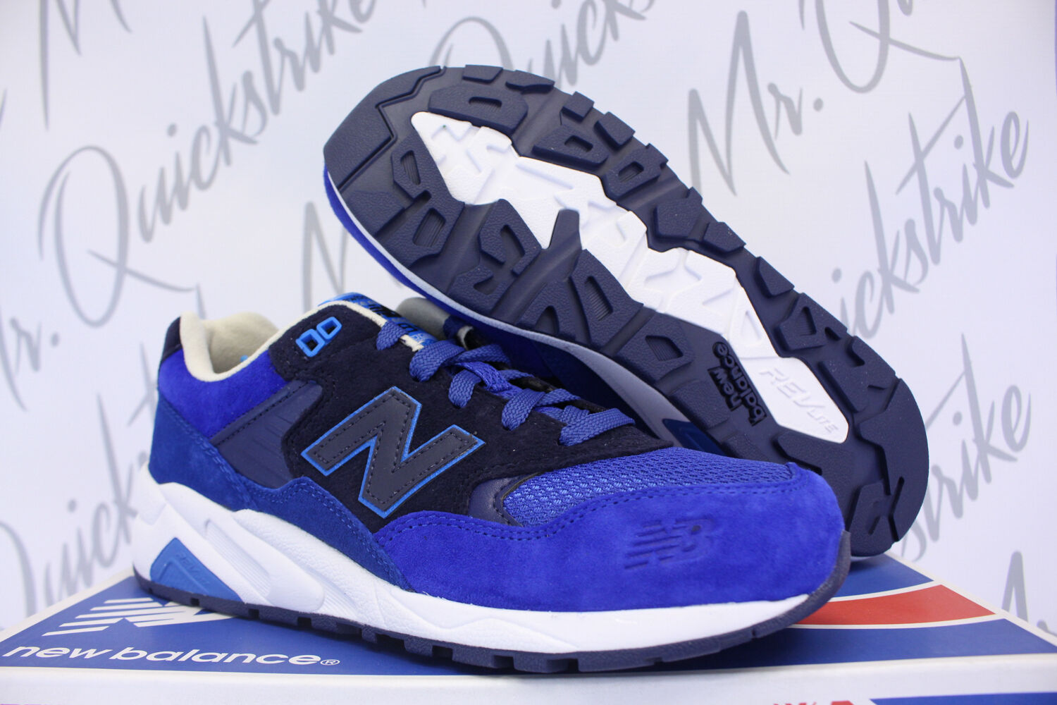 NEW BALANCE 580 SZ 8 ELITE EDITION PAPER LIGHTS SAILOR PACIFIC BLUE MRT580RA