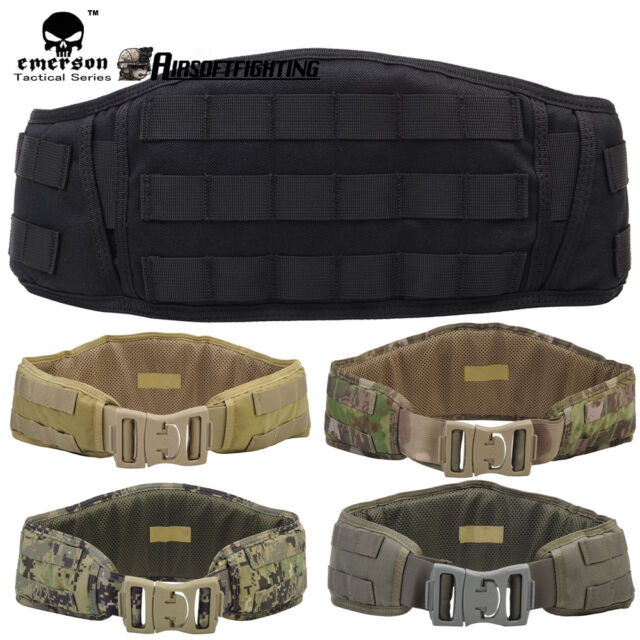 Emerson Hunting MOLLE Padded Contoured Shape Battle Belt Waist Belt Protection